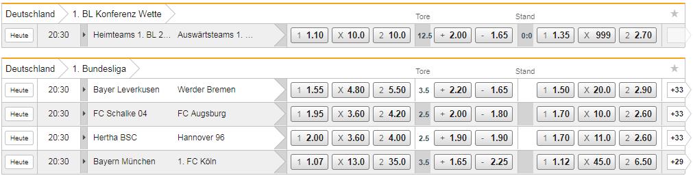 Bet3000 Bundesliga Live wetten
