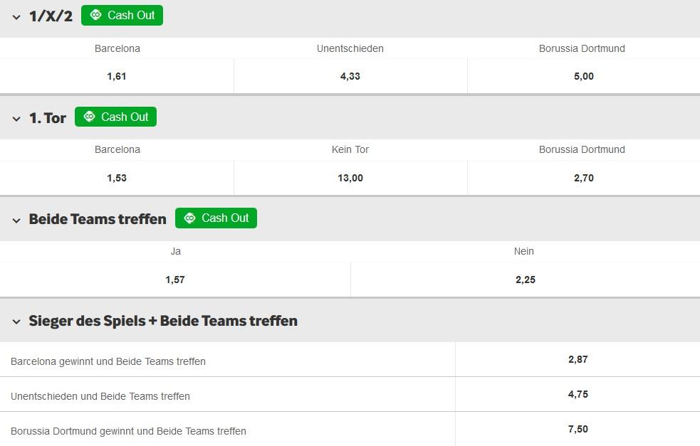 Betway Wetten Champions League